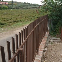 recinzione zincata e verniciata