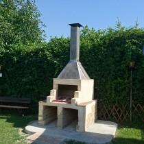 Cappa per barbecue presso pizzeria