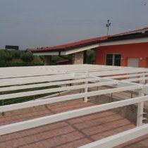 Struttura per tettoia in ferro verniciata