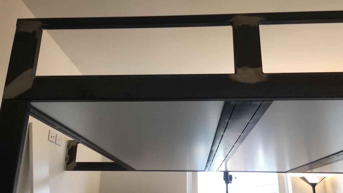 Letto A Soppalco In Ferro soppalco in ferro su misura per letto 09 - fabbro verona